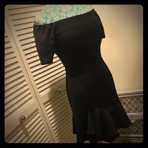 Lucy Paris off shoulder little black dress